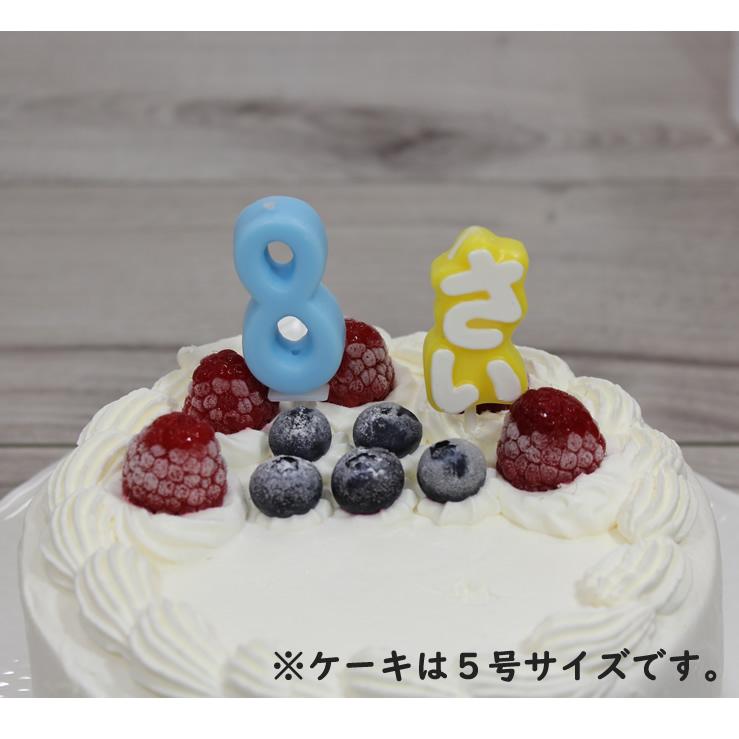 ナンバーキャンドル 8 スカイ (ケーキとのセット販売のみ)