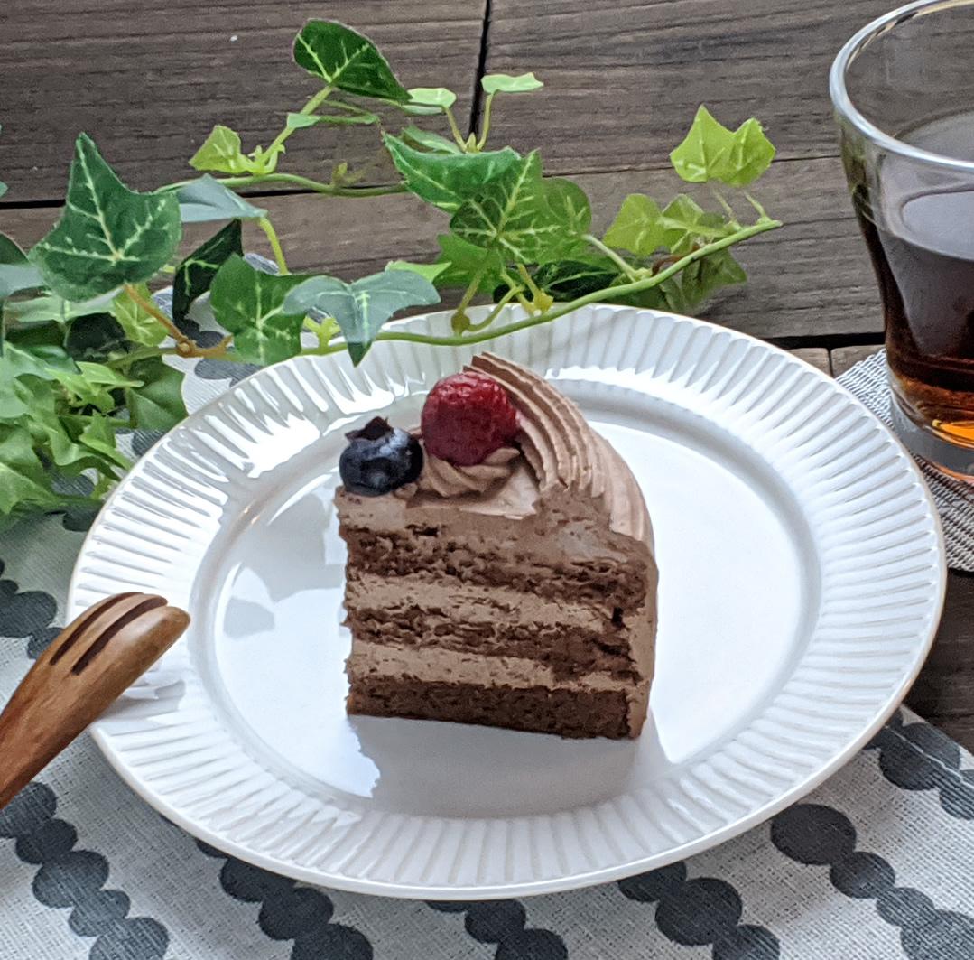 アニバーサリーケーキチョコ4号 ロウソクつき 12台 業務用ホールケーキ