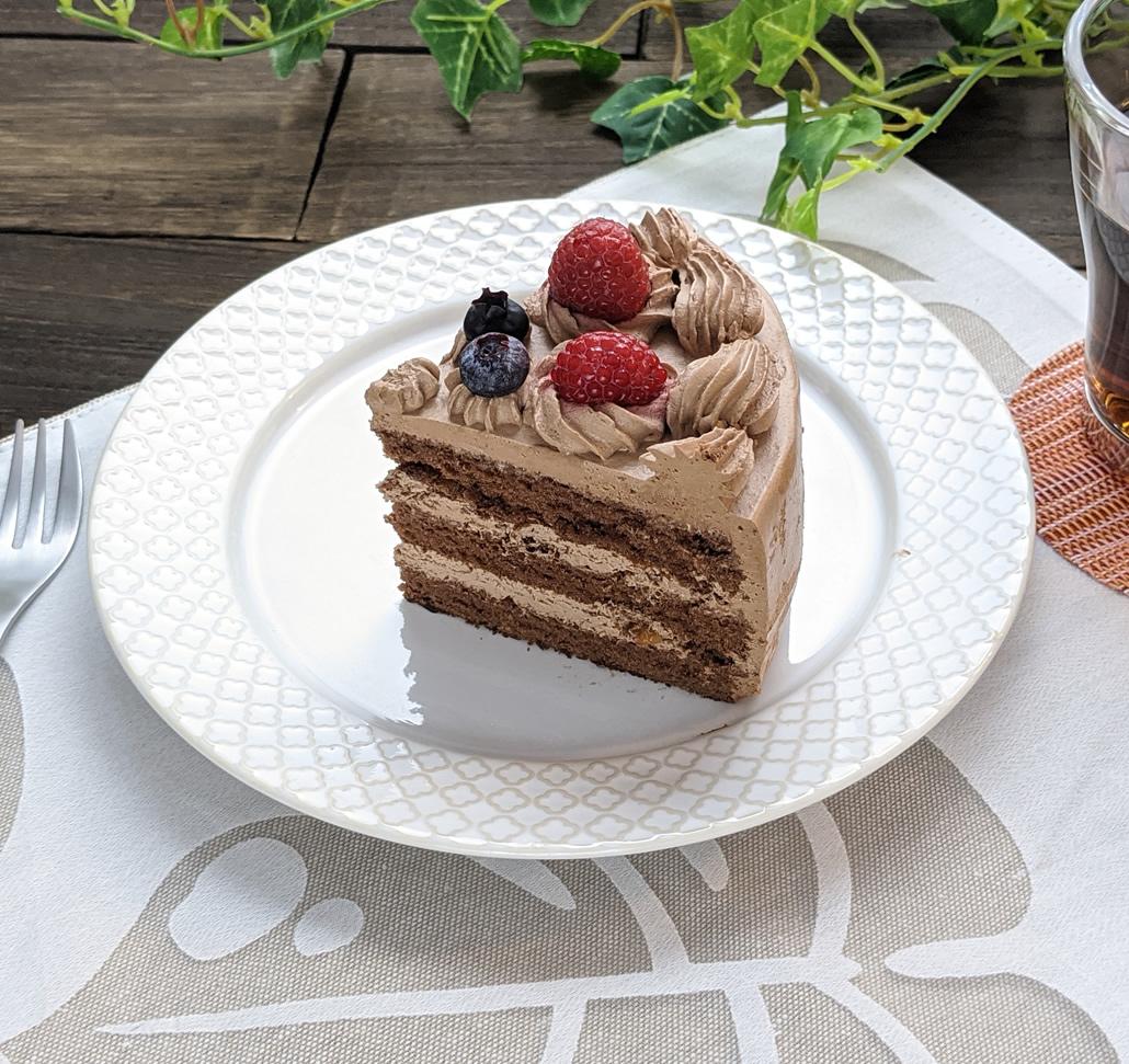 アニバーサリーケーキチョコ5号 ロウソクつき 6台 業務用ホールケーキ