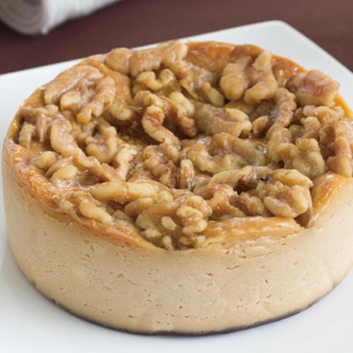 【セット】マーロウのキャラメルとクルミのチーズケーキ&写真プリントチョコプレート 直径5.5cm 丸