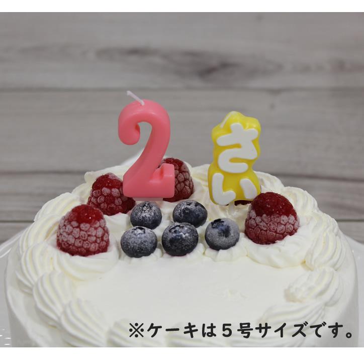 ナンバーキャンドル 2 ローズ (ケーキとのセット販売のみ)