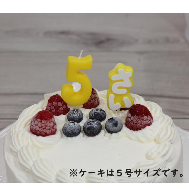 ナンバーキャンドル 5 イエロー (ケーキとのセット販売のみ)