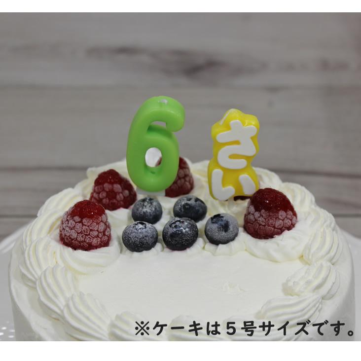 ナンバーキャンドル 6 グリーン (ケーキとのセット販売のみ)