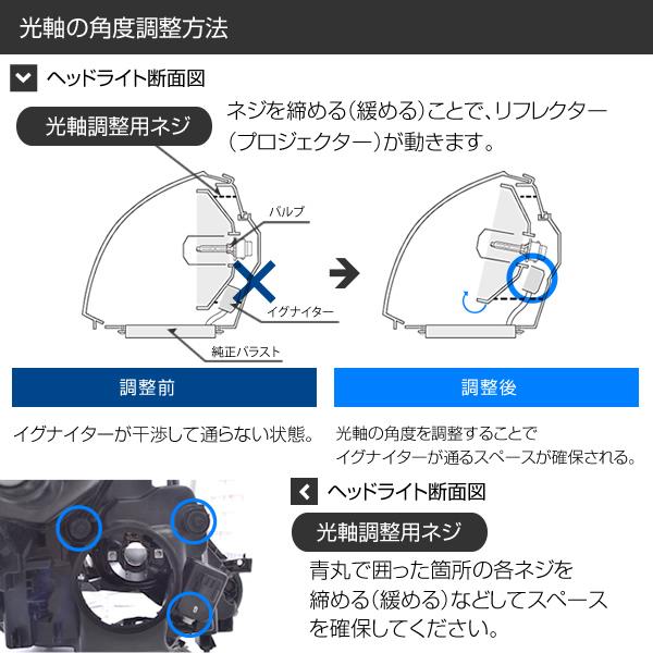 加工なし D4S・D4R 55W化 【純正型バラストタイプA】 パワーアップHIDキット【安心1年保証】【明るさを求める方に】D4S・D4R hidバルブ車対応