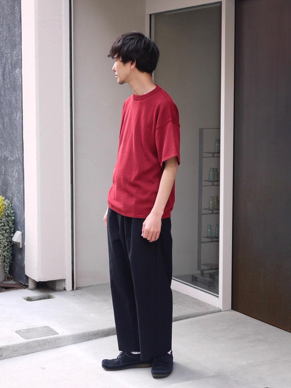 """TORICI / アイスビッグTセーター(ユニセックス) """"RED steef別注"""""""