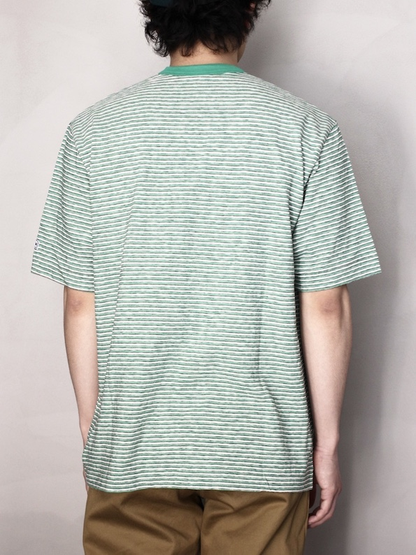 ENDS and MEANS / Pocket Short Sleeve Tee  Green BD