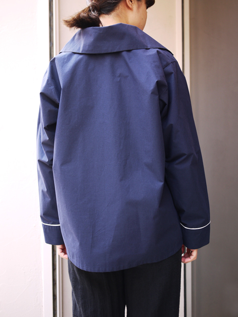 "Sheba / PIPING SHIRT JACKET ""NAVY"""
