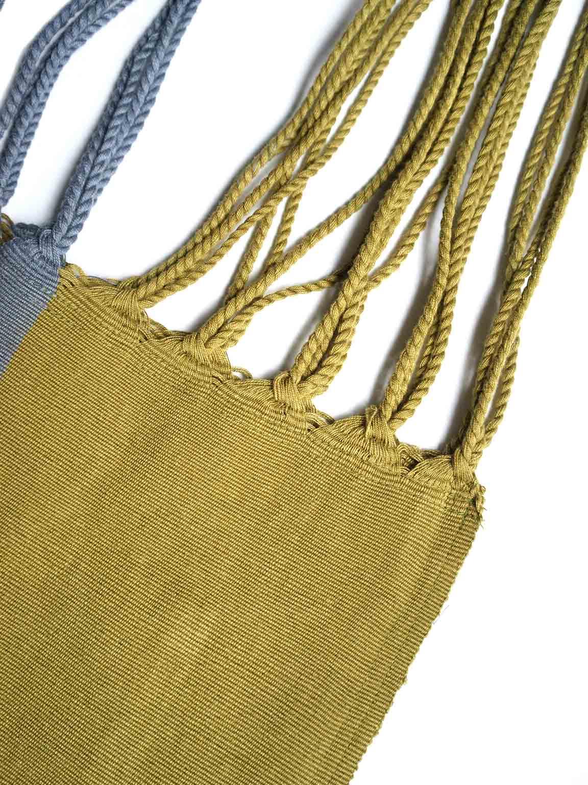 "pips / 2tone color hammock bag ""GREEN/GREY"""
