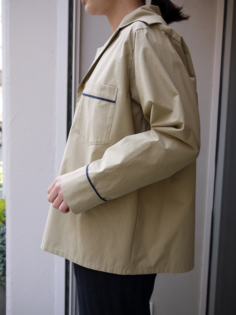"Sheba / PIPING SHIRT JACKET ""BEIGE"""