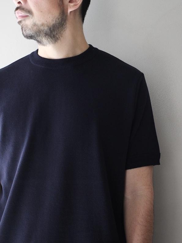 FUJITO /  Knit T-Shirt   Navy