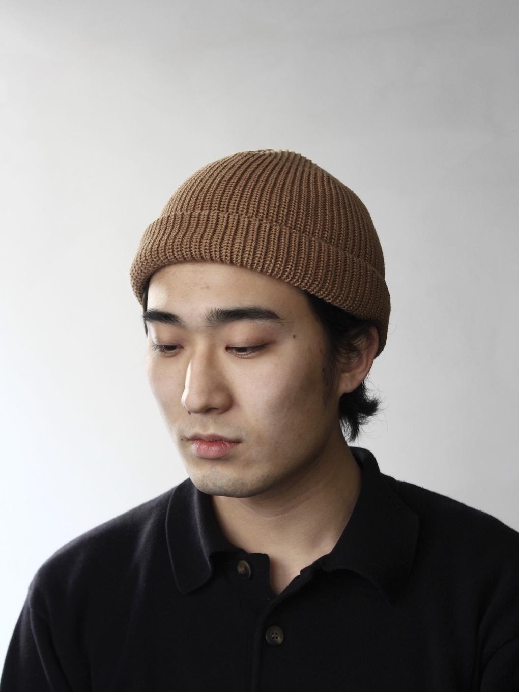 KIJIMA TAKAYUKI / コットンアクリルニットキャップ (No.KN-211002) キャメル