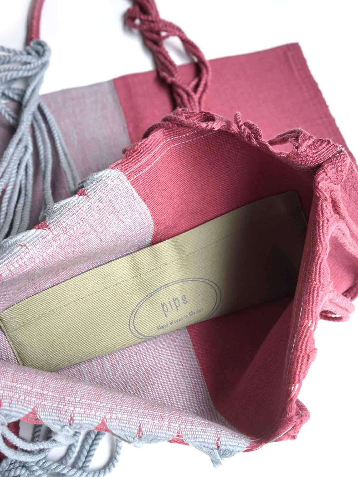 "pips / 2tone color hammock bag ""ICE BLUE/PINK"""