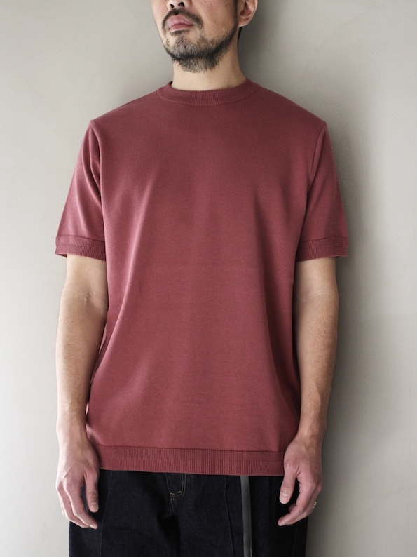 FUJITO /  Knit T-Shirt   Red Purple