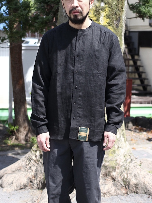 "Handwerker ASEEDONCLOUD / HW collarless shirt ""black"""