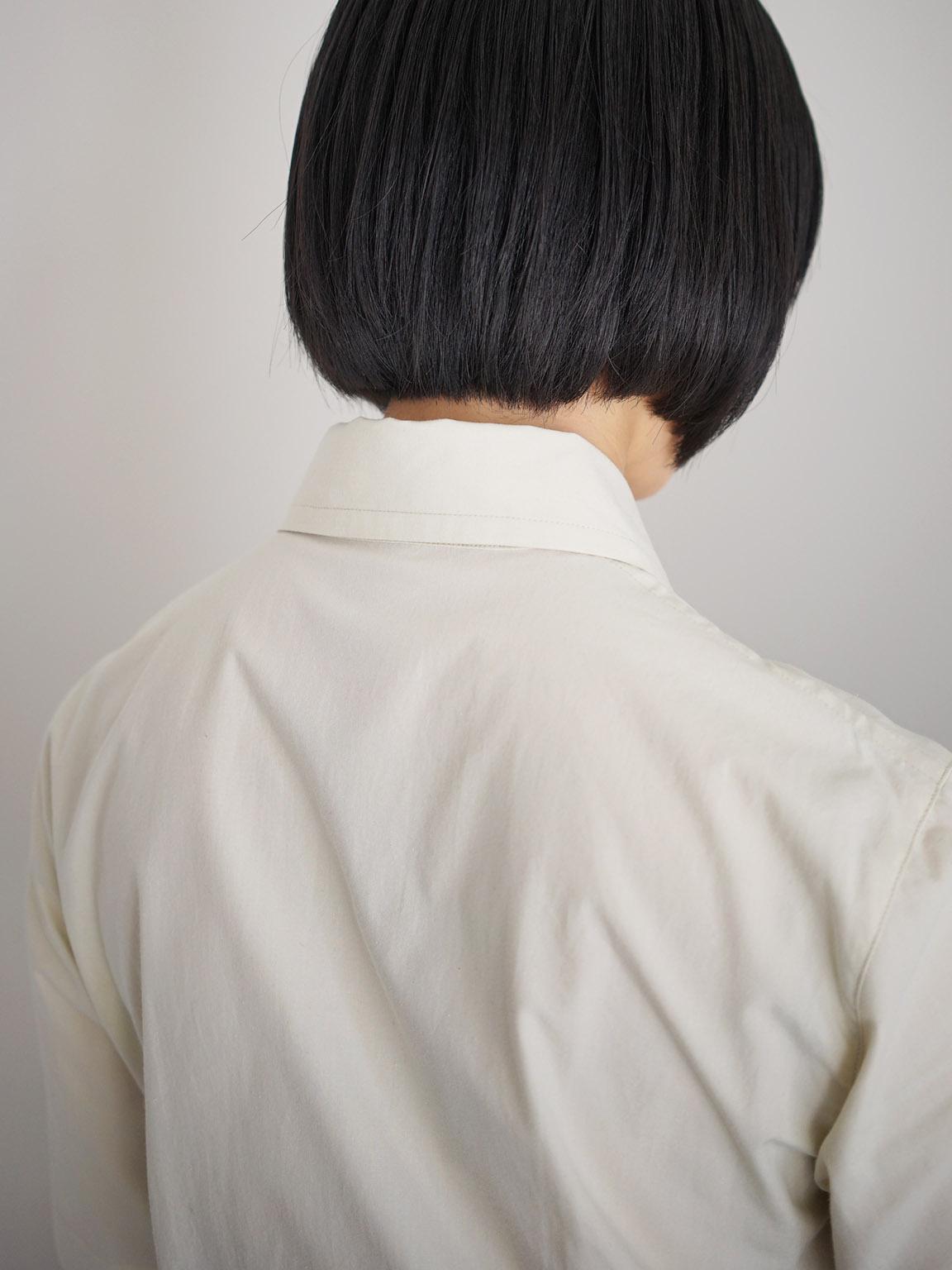 "THE HINOKI / オーガニックコットンポプリン セットアップドレス ""WHITE ASPARAGUS×MIDNIGHT"""
