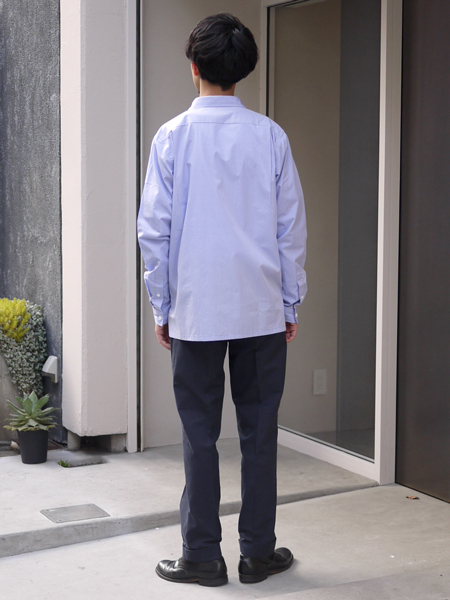 "Riprap / SEMI OPEN COLLAR SHIRTS ""SAX"""