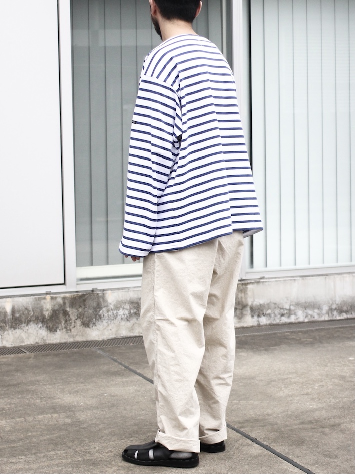 "OUTIL / TRICOT AAST ""WHITE/NAVY"""