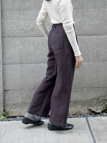 "hatsutoki / wide pants ""Brown"""