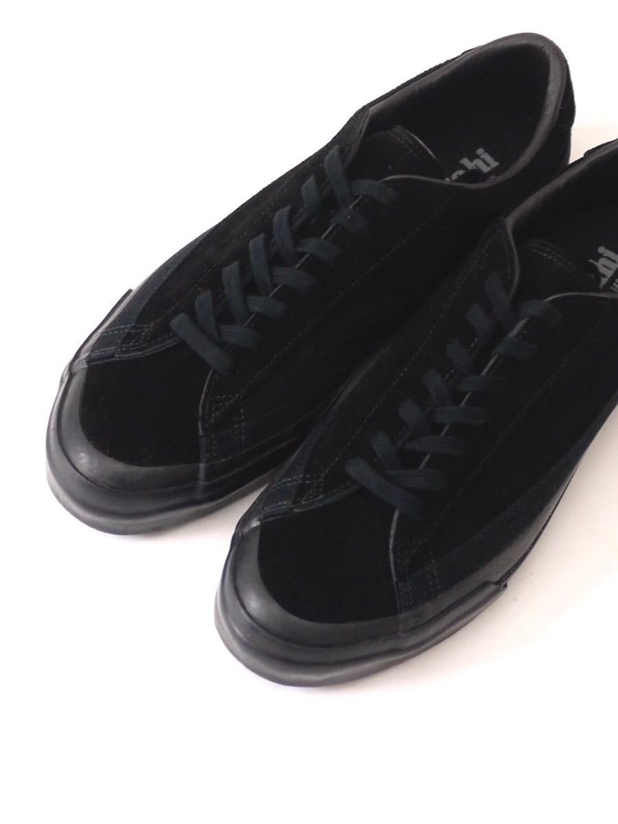 ASAHI BELTED LOW SUEDE - BLACK/BLACK
