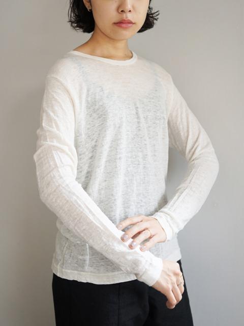 """Vlas Blomme / linen cut-sew """"white"""""""