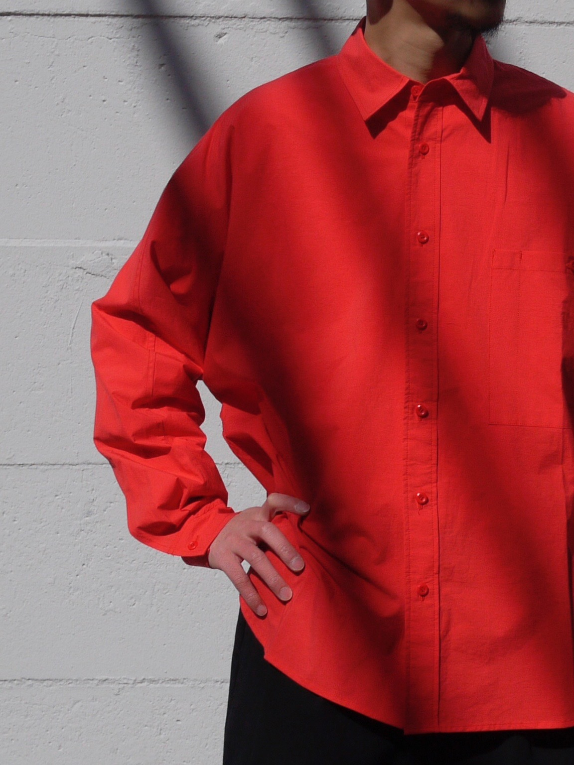 roundabout / Dolman Sleeve Shirt  RED