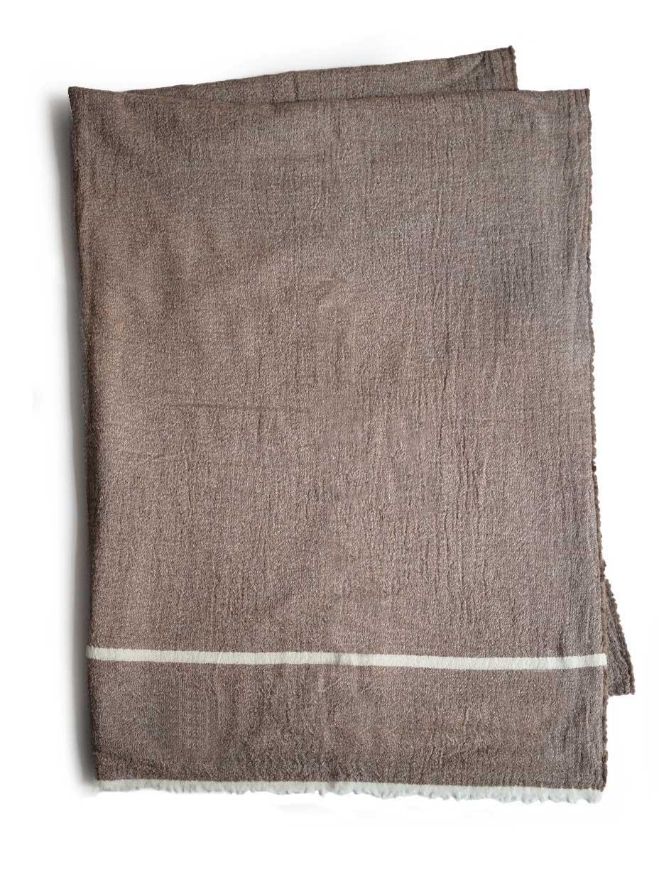 "LAPUAN KANKURIT / VIIRU merino wool scarf ""beige"""