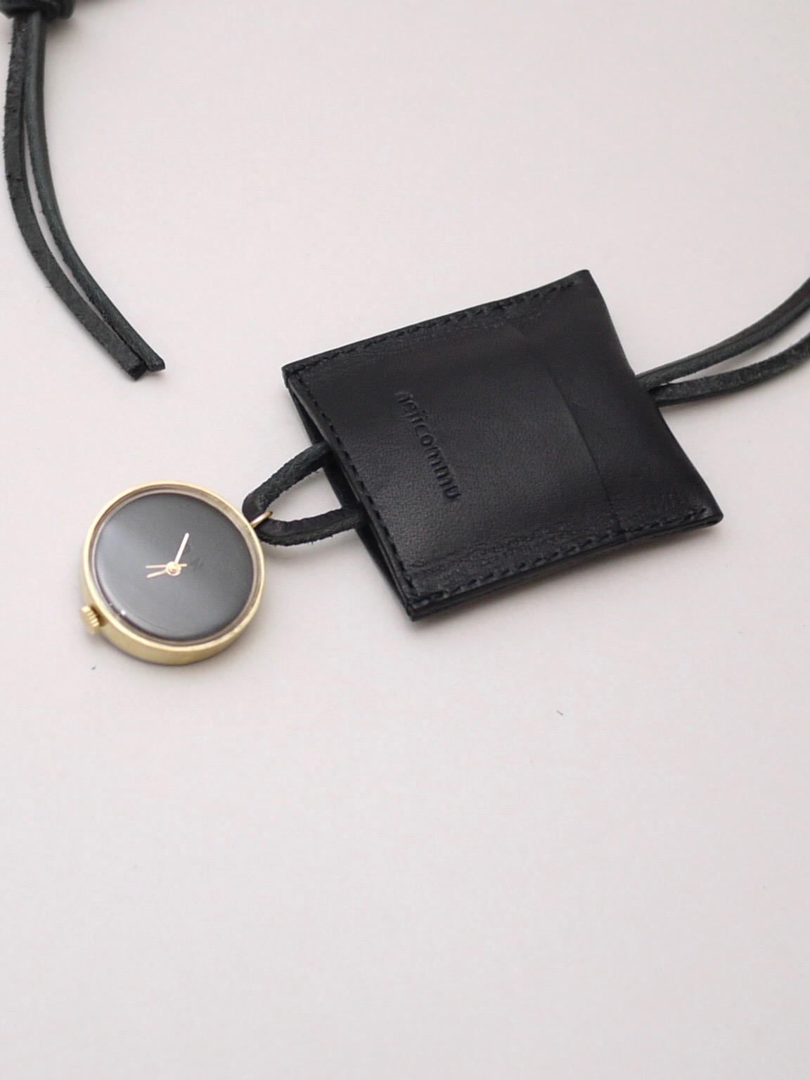 "nejicommu / watch necklace ""HEART BEAT"" BLACK"