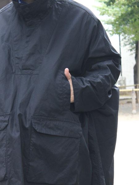 "FIRMUM / long poncho ""Black"""