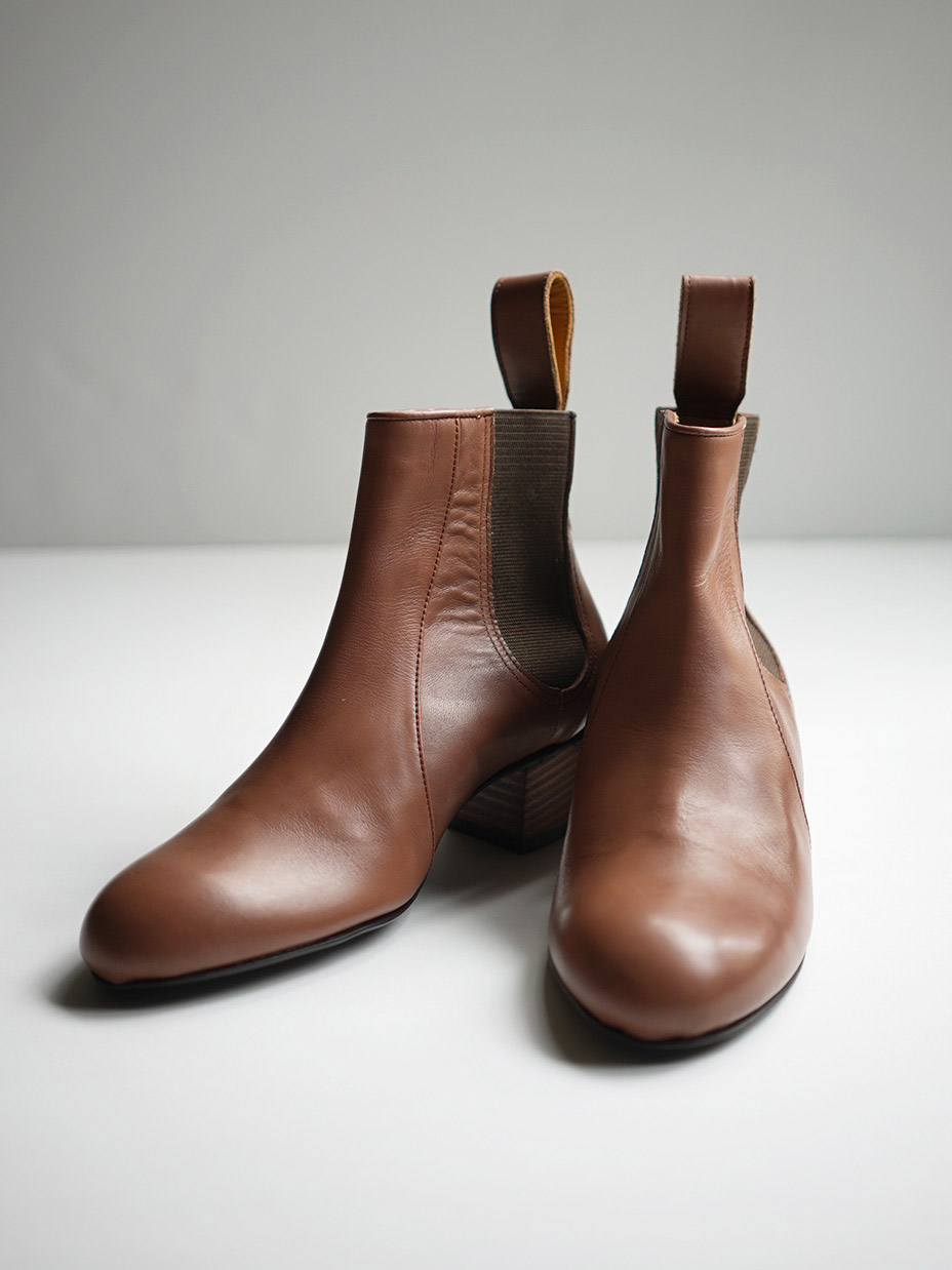 """Y.M.walts / Side gore boots """"BROWN"""""""