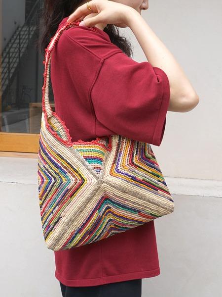"""Raffia Bag / Shoulder """"multi"""""""
