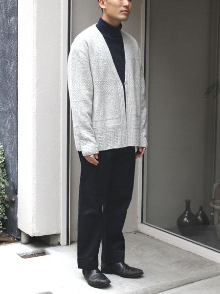 "ASEEDONCLOUD / moguragumi cardigan ""Grey"""