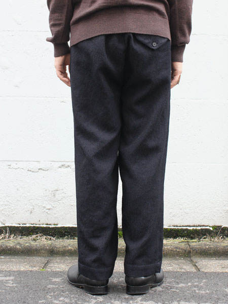 "FIRMUM / wide silhouette pants ""Black"""