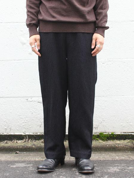 "FIRMUM / wide silhouette pants ""Black"""