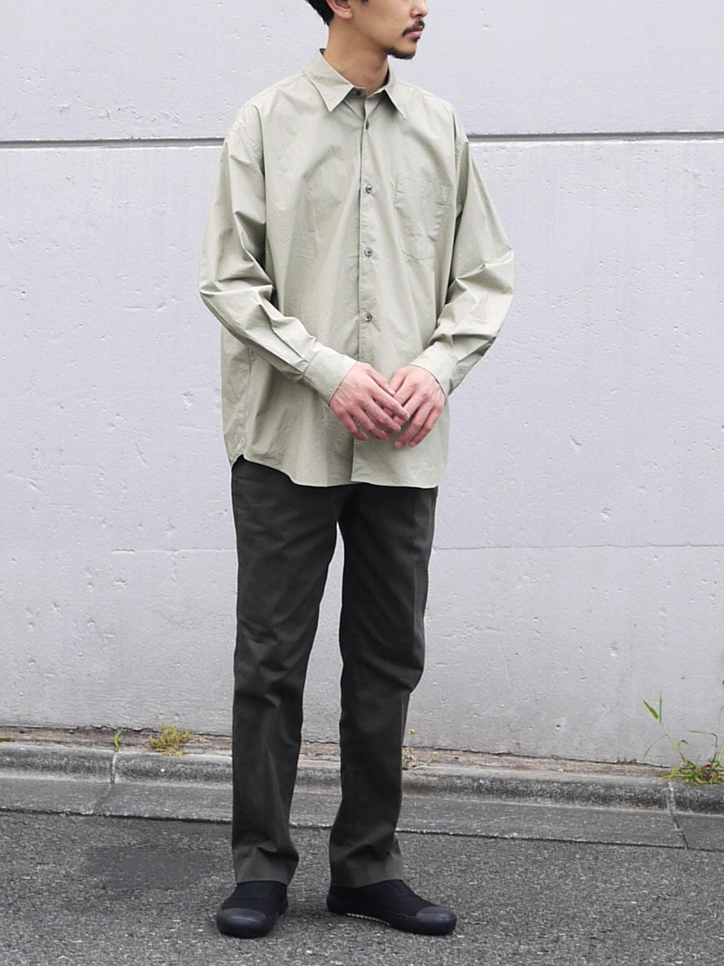 """FUJITO × stanyan /  ビッグシルエットシャツ """"Sabi Green"""""""