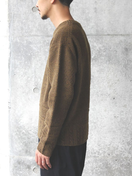 "ASEEDONCLOUD / moguragumi knit ""Khaki"""