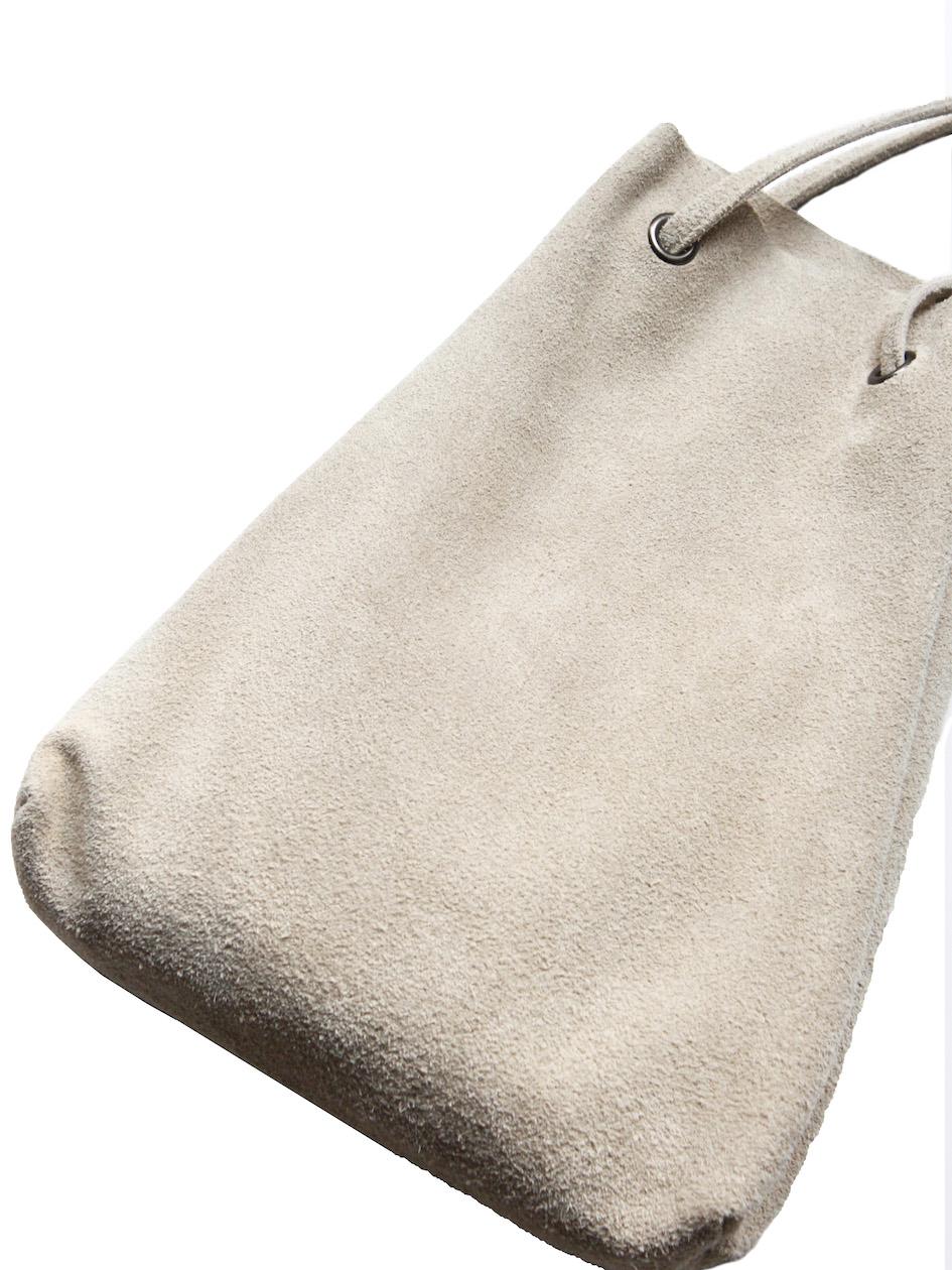 gesture / drawstring pouch BEIGE