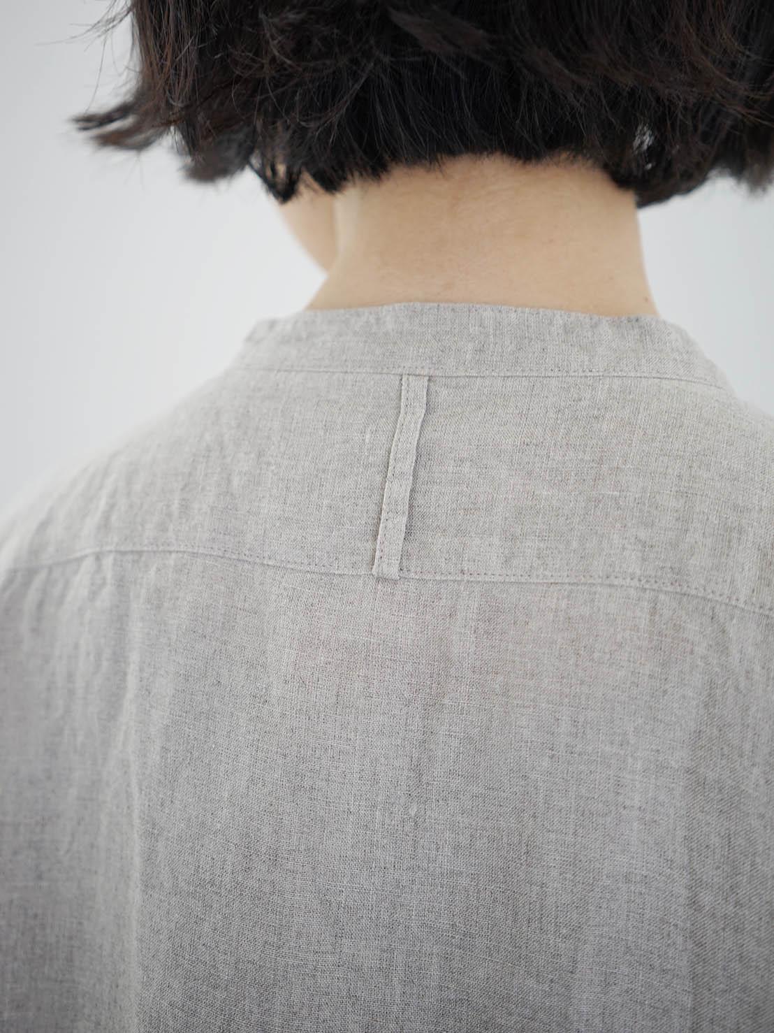 "Vlas Blomme / KL Haritage 60 tunic shirt ""FLAX"""