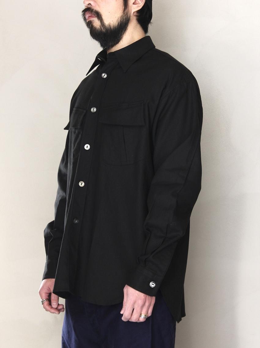 "FUJITO  /  ファティーグシャツ ""Black"""