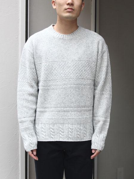 "ASEEDONCLOUD / moguragumi knit ""Grey"""