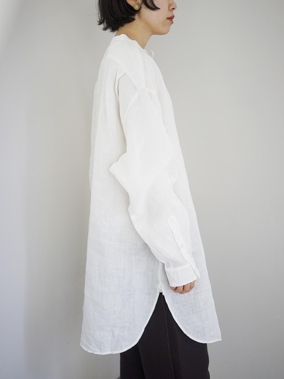 "Vlas Blomme / KL Haritage 60 tunic shirt ""WHITE"""