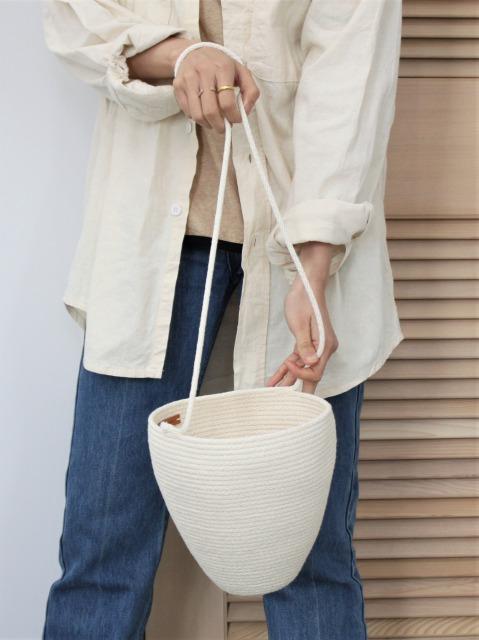 CATZORANGE / bucket bag Natural-long