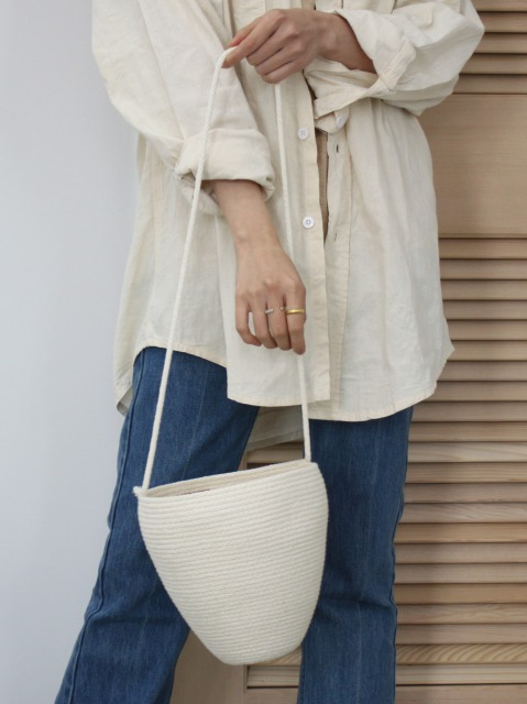 CATZORANGE / bucket bag Natural-long