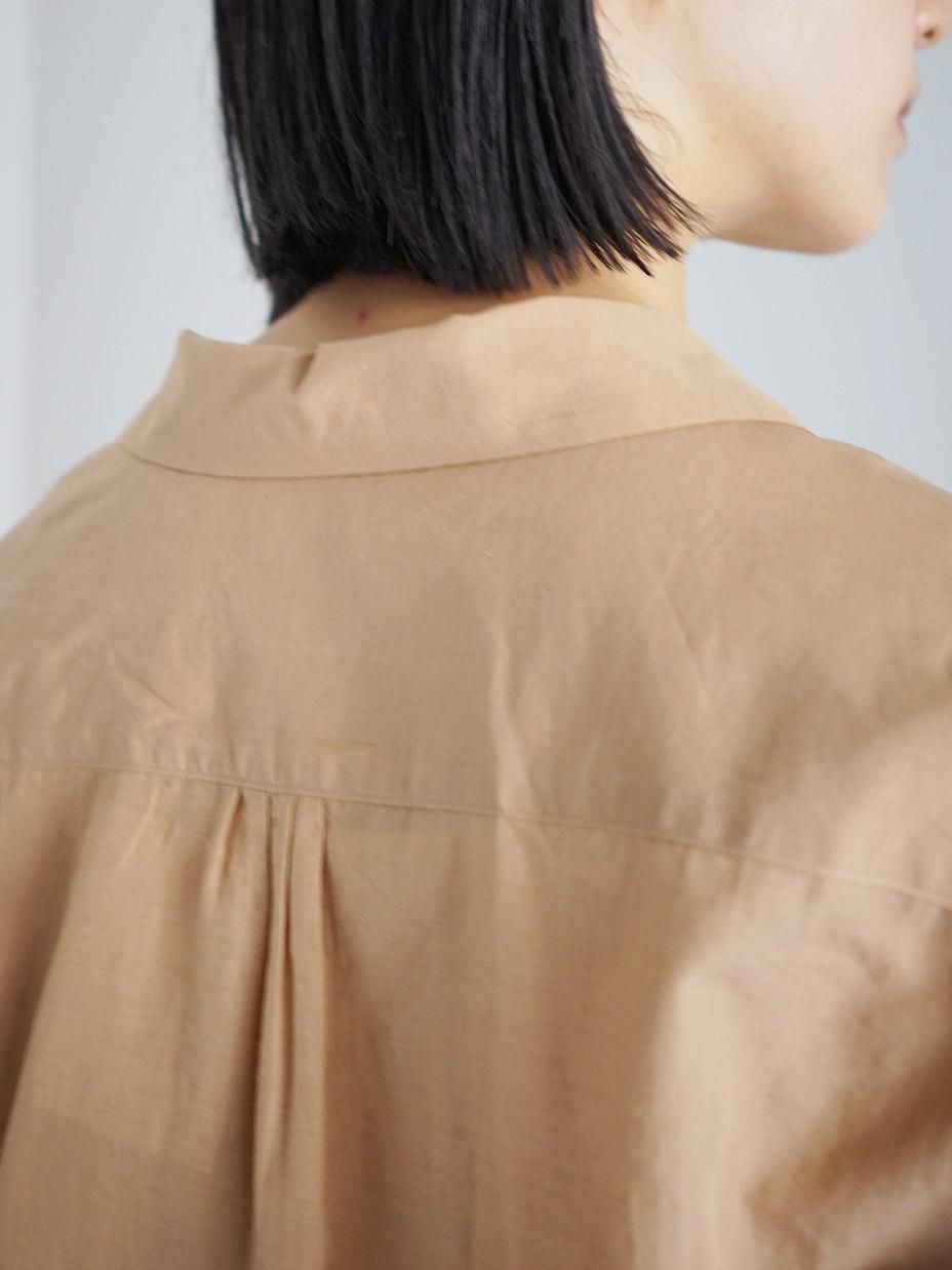 "hatsutoki / traveller オープンカラーシャツ ""ジンジャー"""