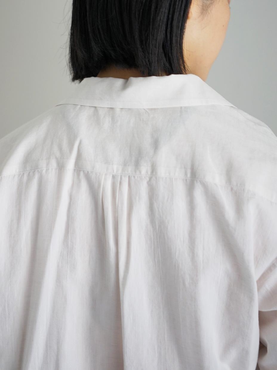 "hatsutoki / traveller オープンカラーシャツ ""エクリュ"""