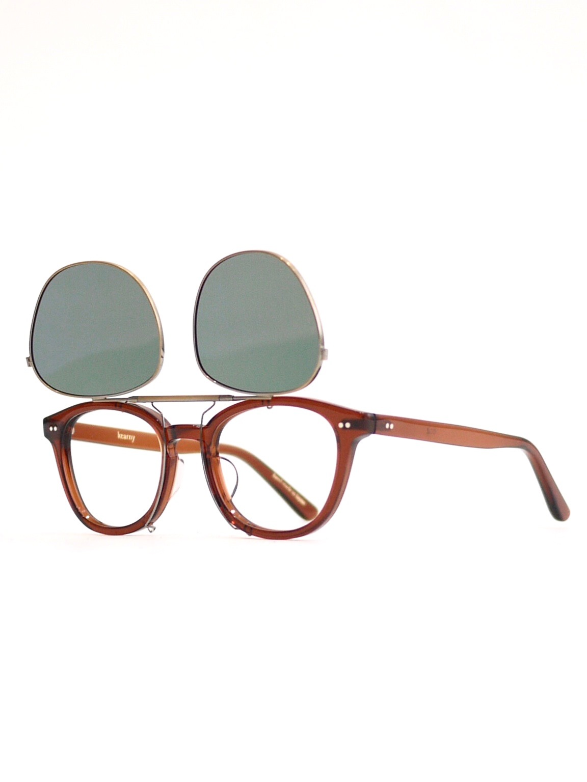 kearny / clip on (dark green lens)