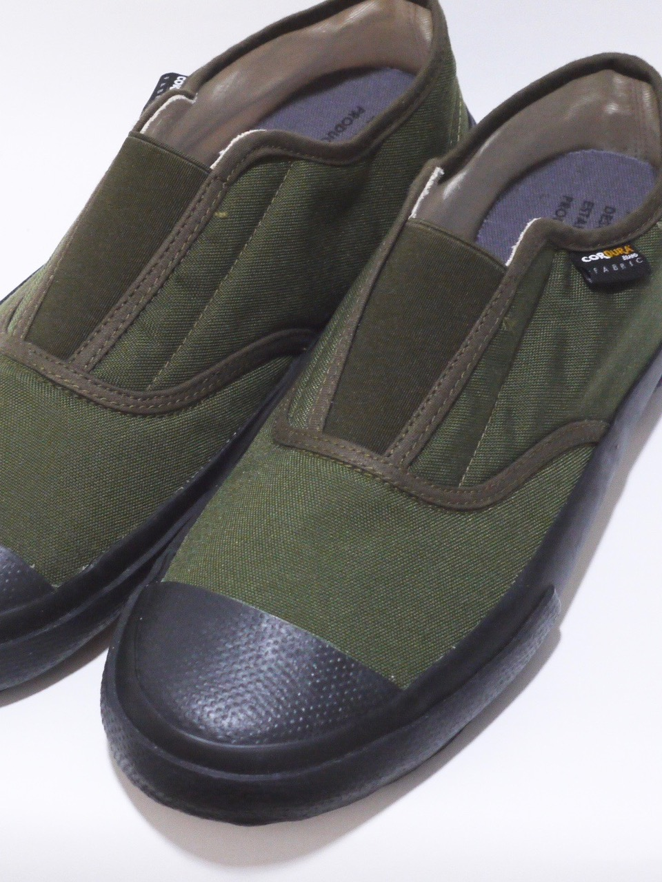 REPRODUCTION OF FOUND / ITALIAN MILITARY TRAINER OLIVE