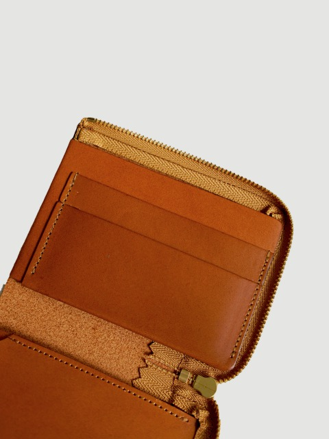 "ViN / zip mini wallet ""Camel"""