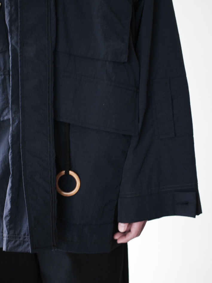 SHEBA / FATIGUE JACKET【CHAIN STITCH】BLACK
