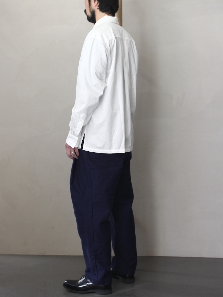 "SOWBOW 蒼氓シャツ / ONE PEACE COLLAR  ""WHITE"""