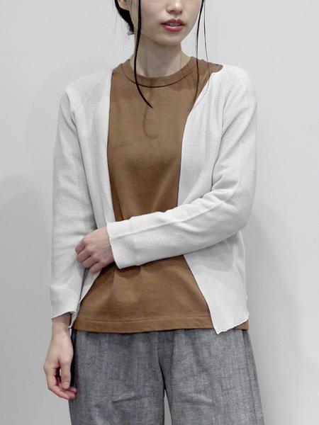 """Vlas Blomme """"&12Linen"""" / 長袖TEEシャツ """"CAMEL"""""""